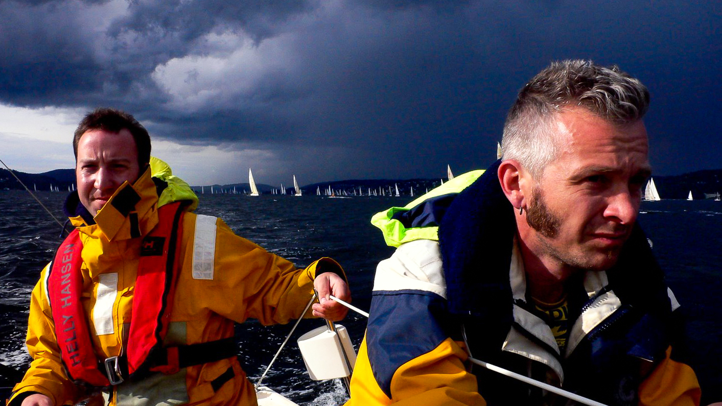 During worlds biggest overnight yacht race we wore our old Musto Jackets. Photo: Daniel Novello