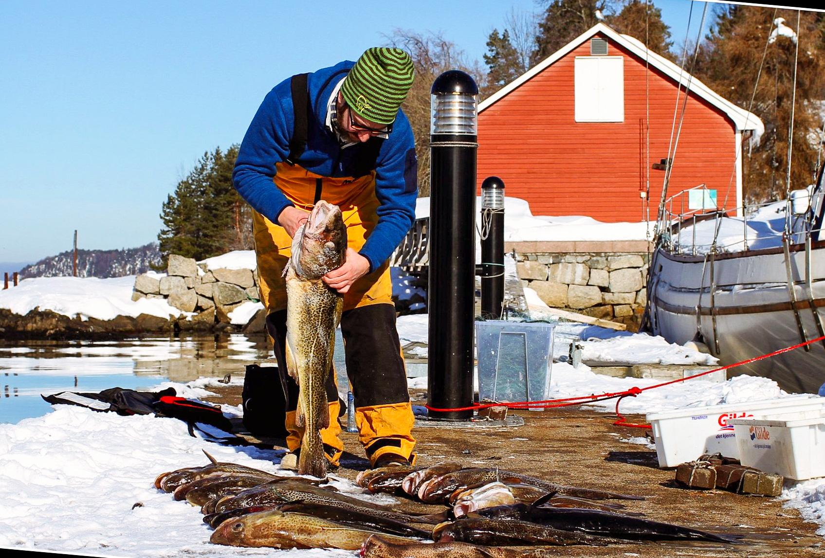 """Fishing is best in Norway during the months that has a """"R"""" in them. Photo: Daniel Novello"""