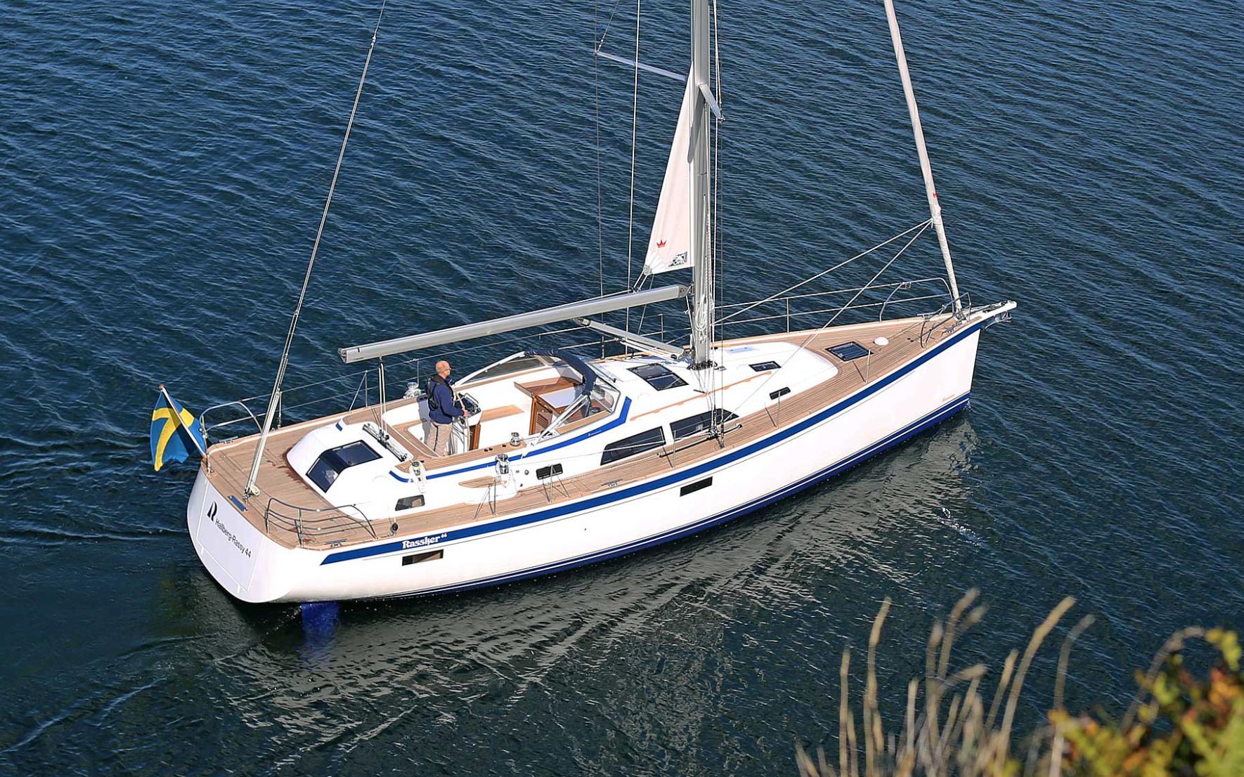 The New Hallberg Rassy 44. Swedish boatbuilding at its very best. Photo: Hallberg Rassy Varvs AB