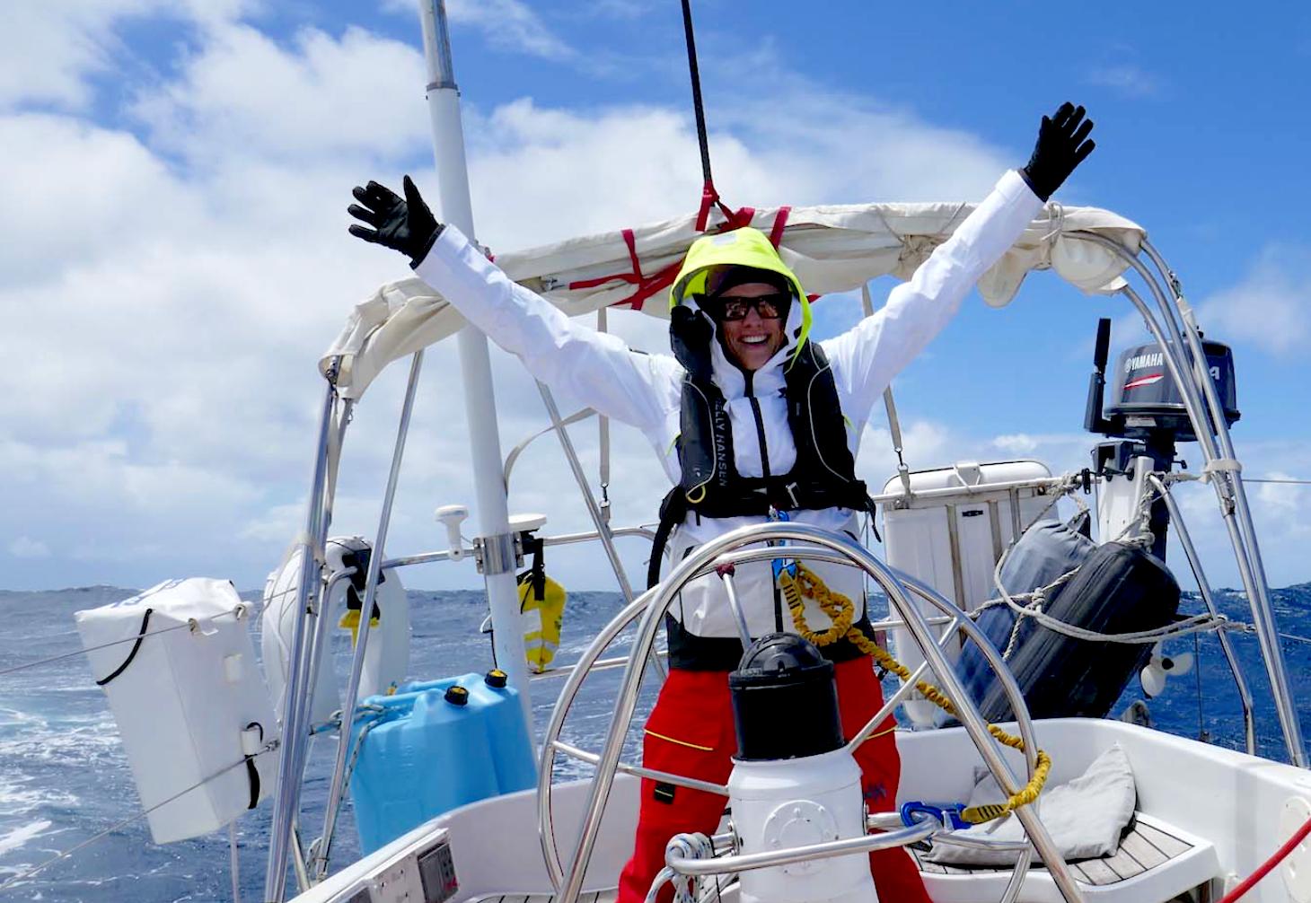 Mia Karlsson at the helm.Photo:  59º North