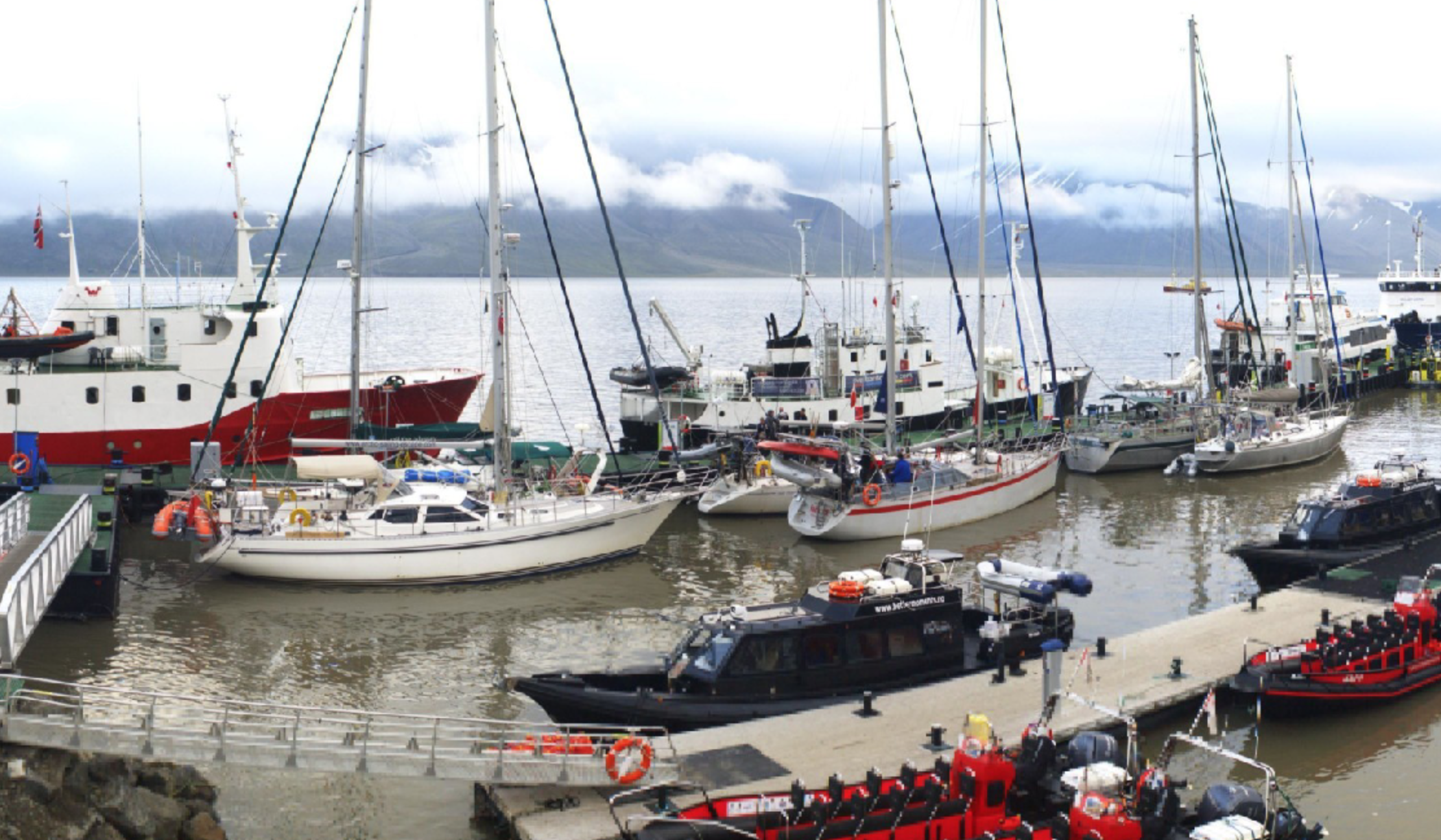 A busy season in the Port of Longyearbyen. Photo: Port of Longyearbyen