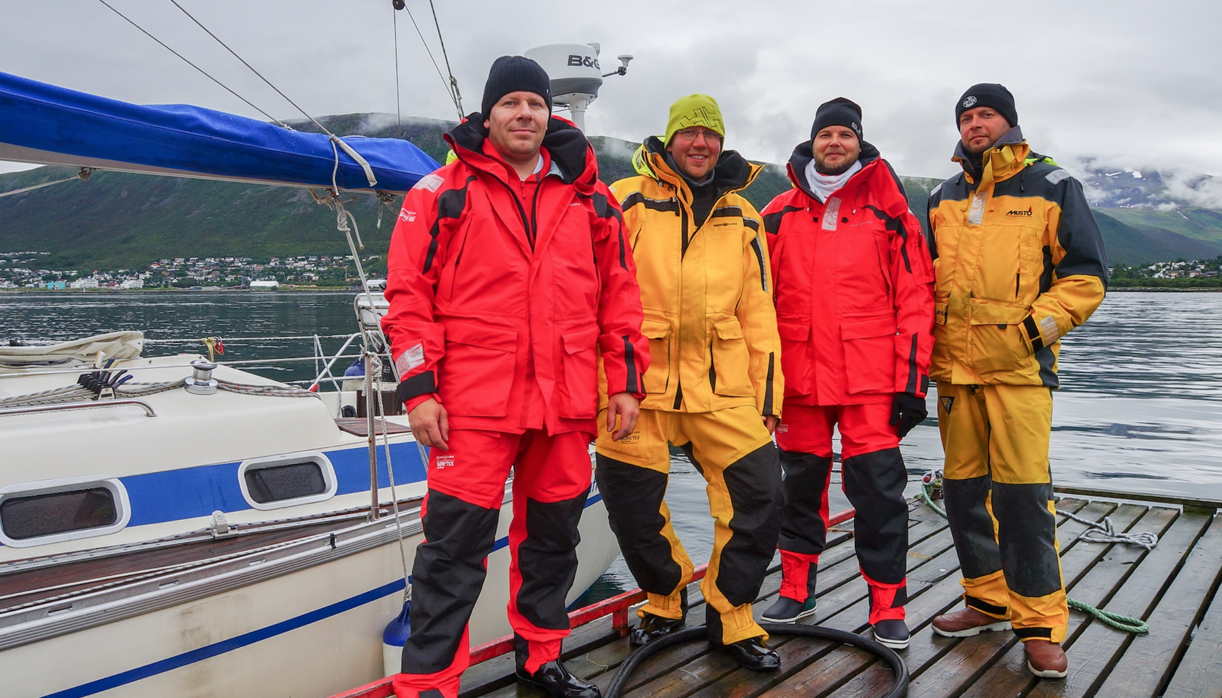 The jolly crew of S/Y Ruffe