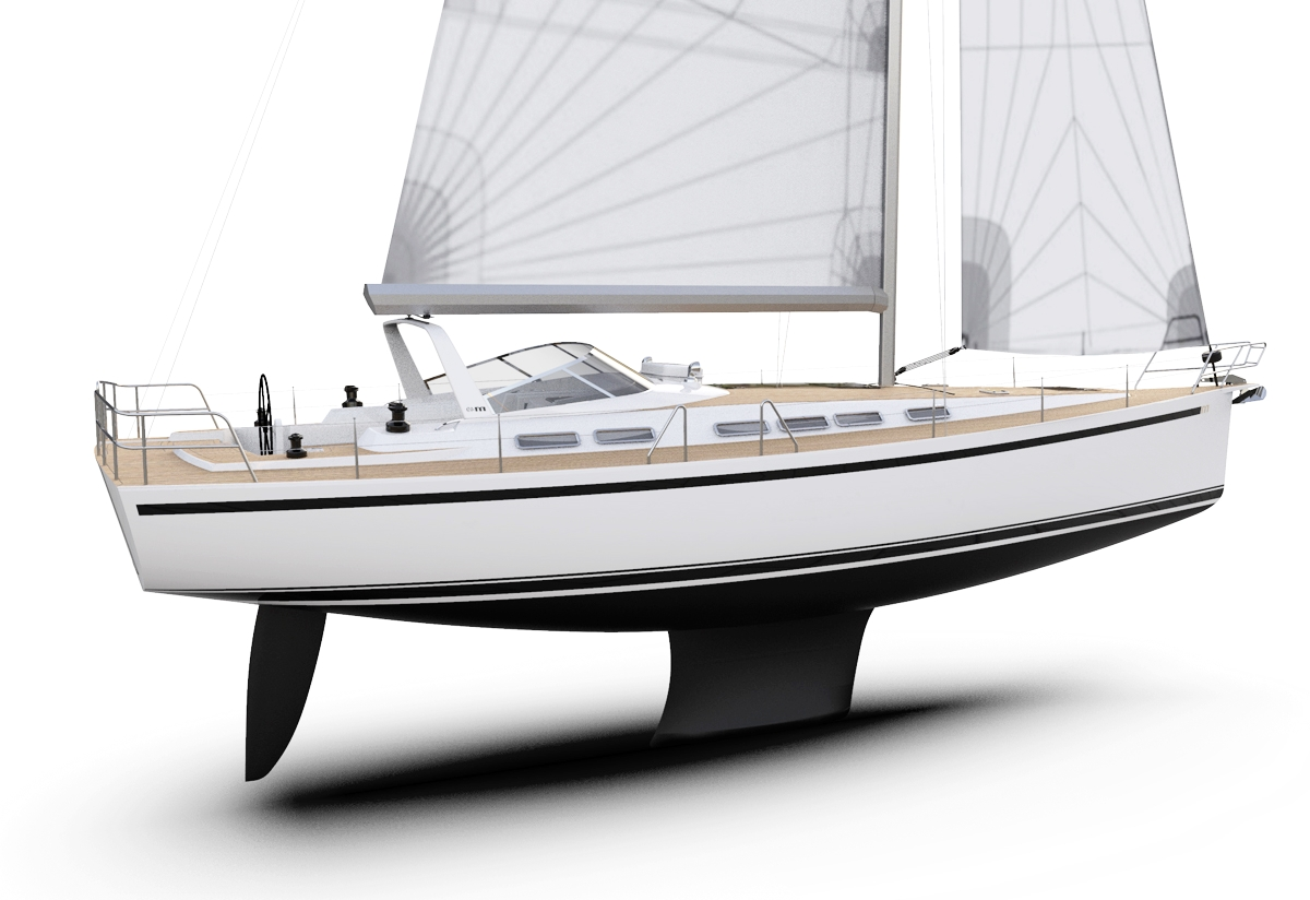 The Malö Yachts 49 looks a lot more modern than previous models