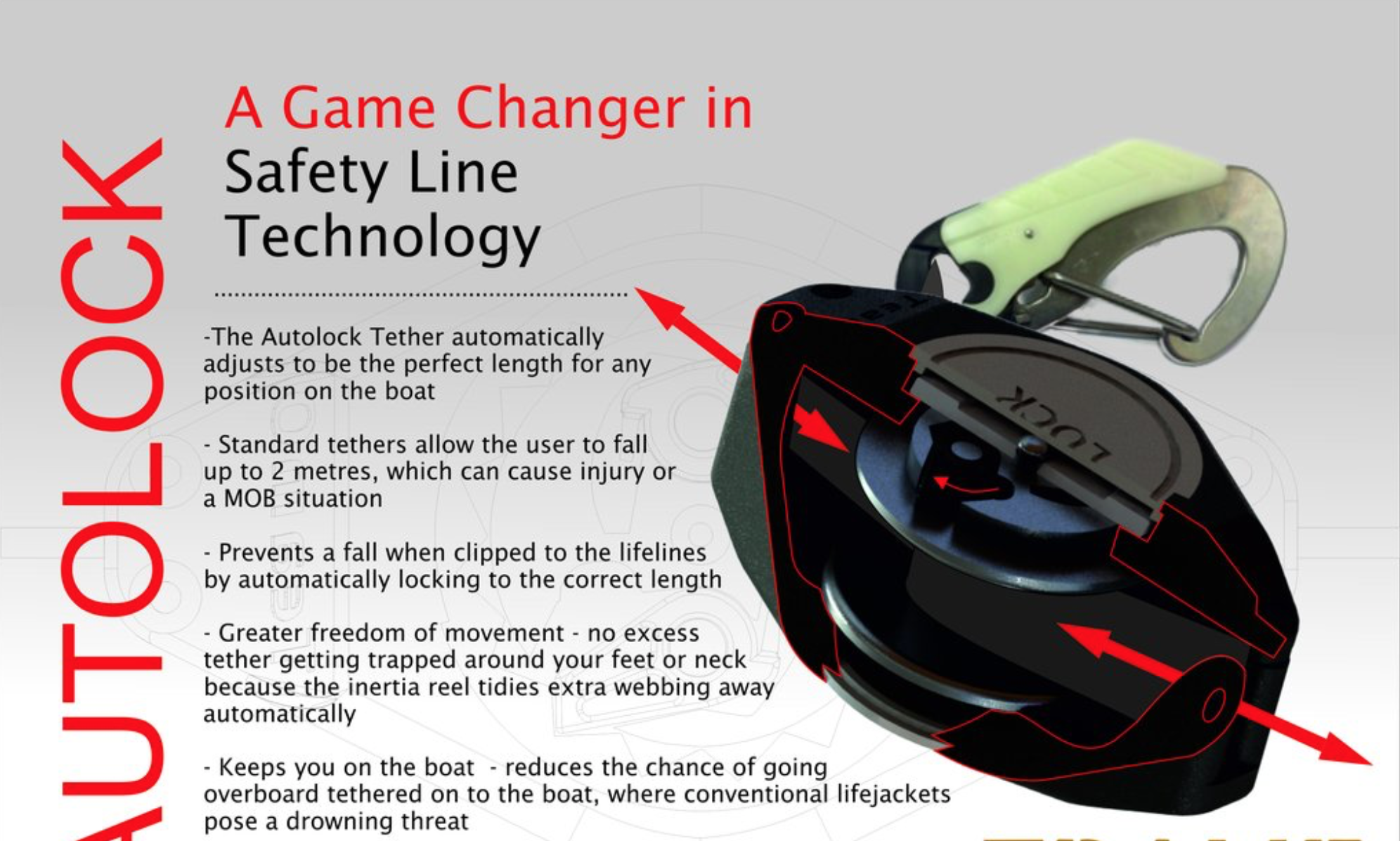 The AutoLock Safety Tether from TeamO in the UK