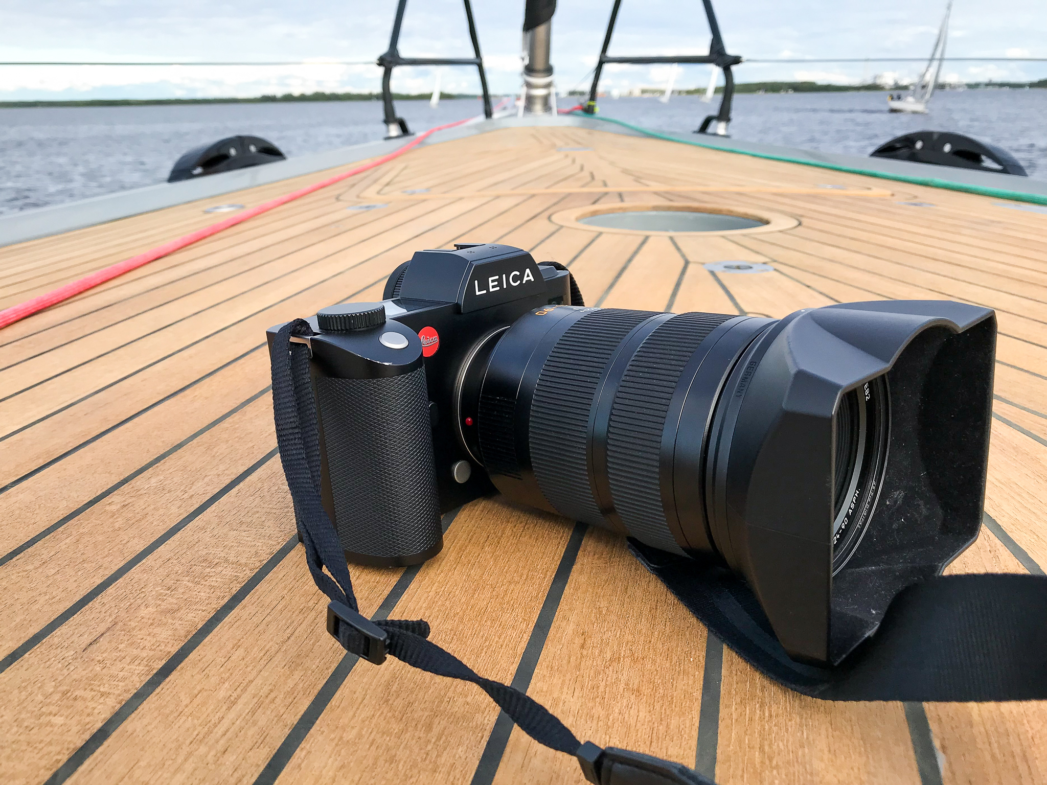 The Leica SL is right at home on the foredeck of the new Nautor Swan 78. Photo: Daniel Novello