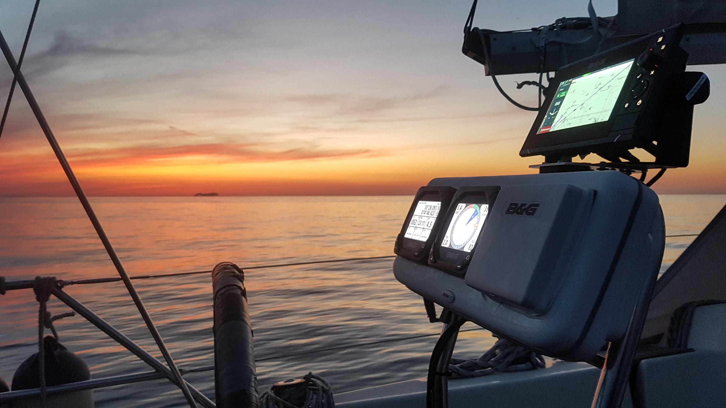 "Night sailing in The Baltic Sea. Photo by: Photo by: Kari ""Ruffe"" Nurmi"