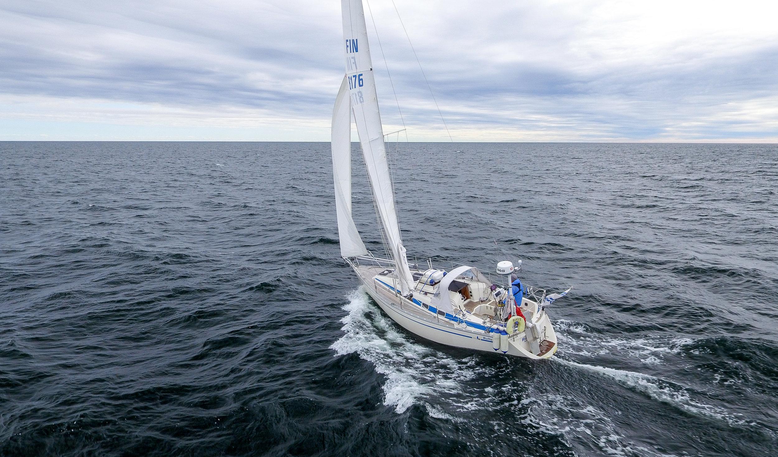"Sailing in the Bay of Bothnia. Photo by: Kari ""Ruffe"" Nurmi"