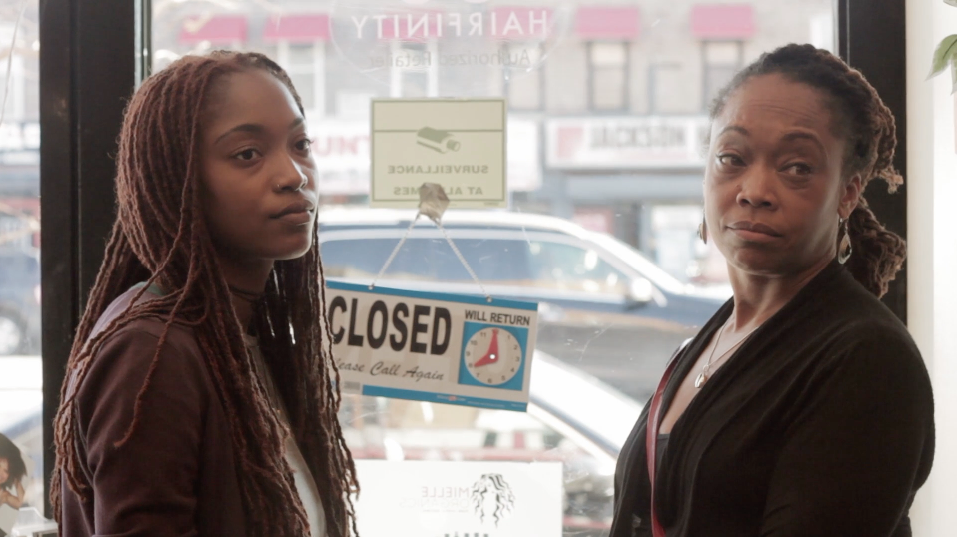 Eva and her mother from  Like Fine Silk , played by Tiffany and Shirley Campbell .