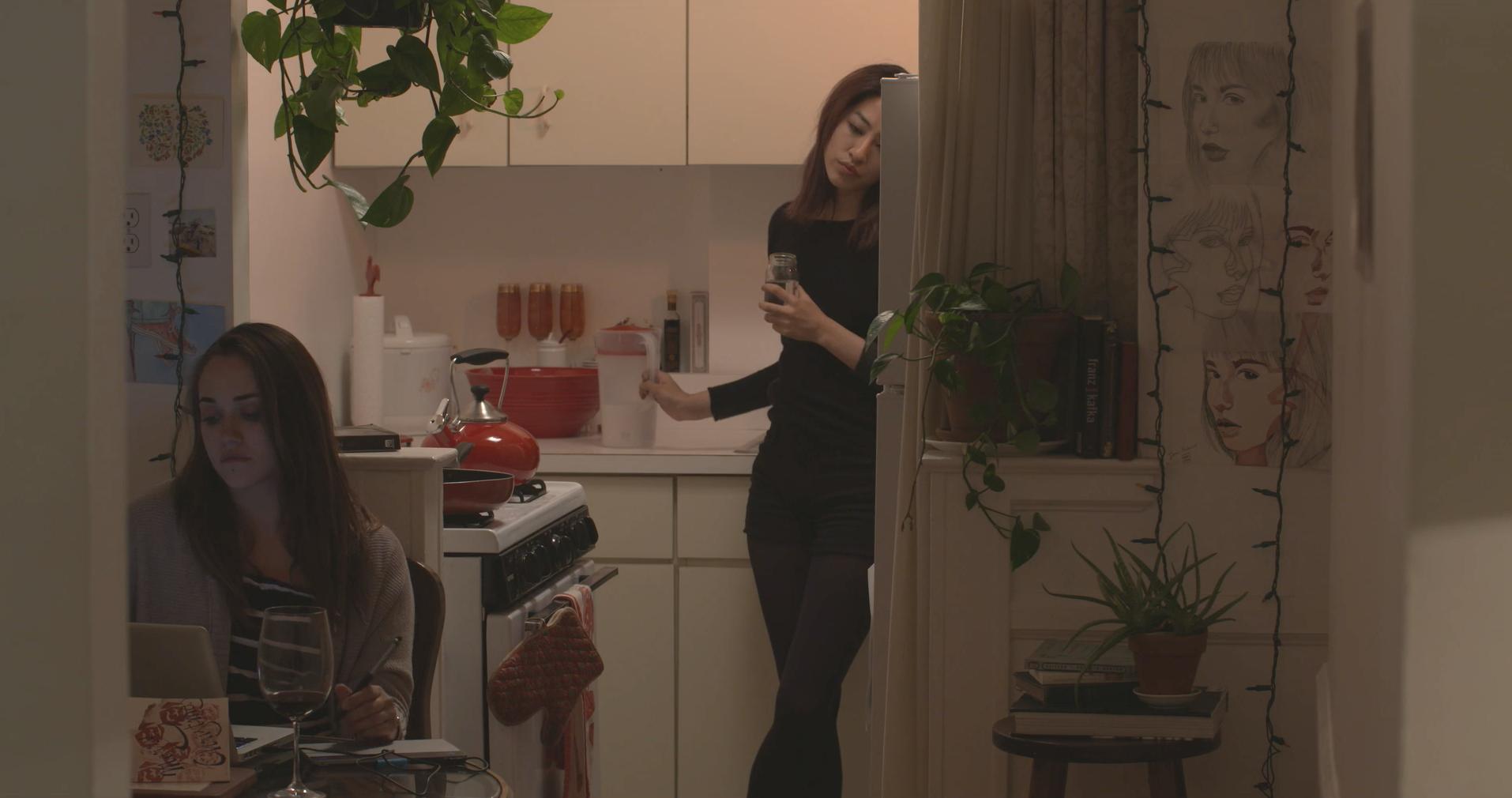 scene from caroline's short film, ' us '