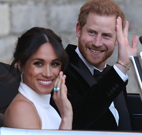 FACE FRAMING CURLS - Later in the day Meghan had a few soft curls added around her face, a relaxed but chic look!