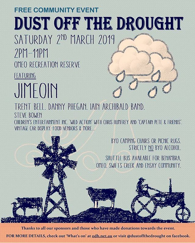 @omeoregion tonight for the Dust Off The Drought fundraiser, with all proceeds going back into the local community!  @jimeoinmckeown @dannyphegan @trentbellofficial @loveeastgippsland @djstevebowen  #australia #doingitforthefarmers