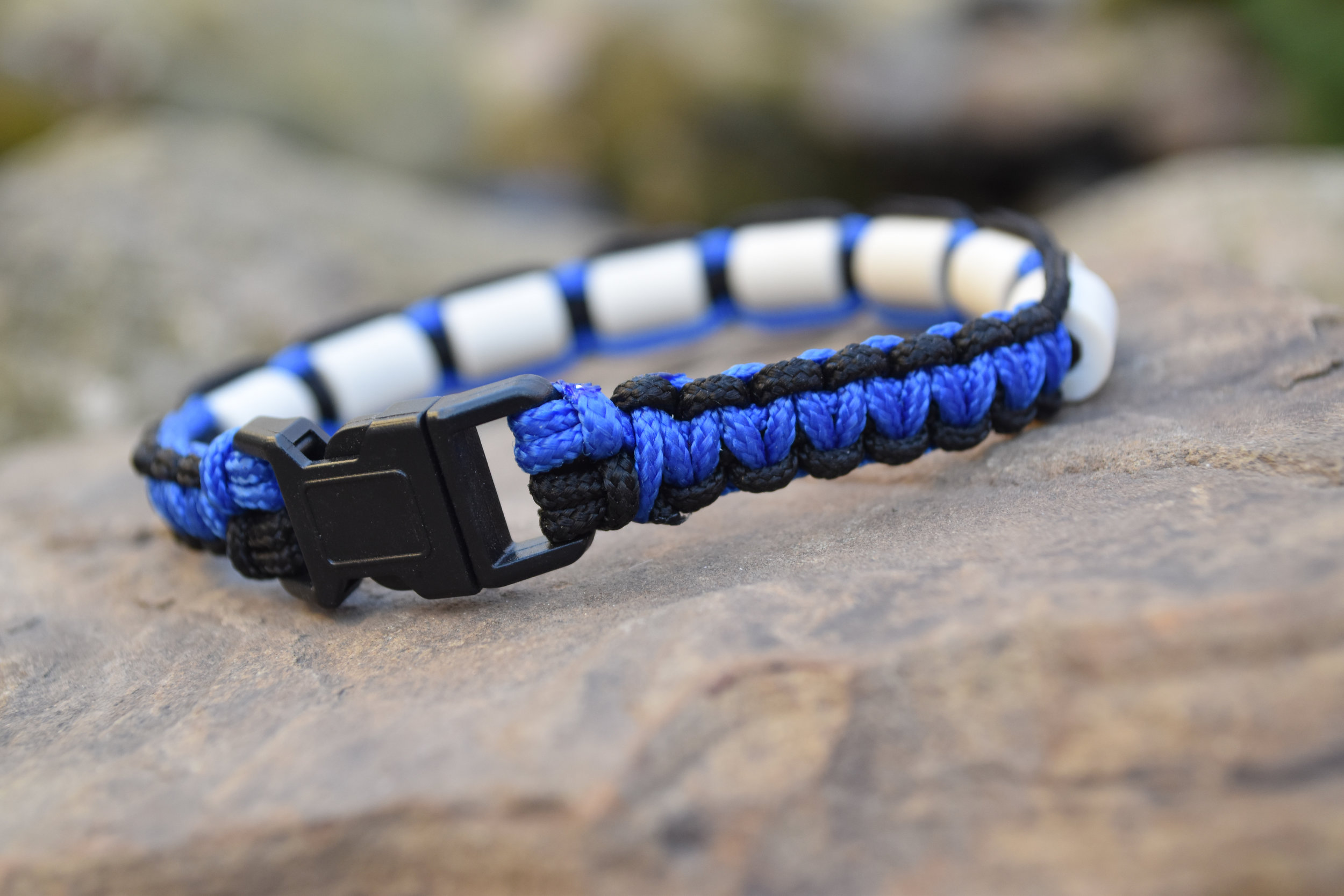 Black with Blue Paracord
