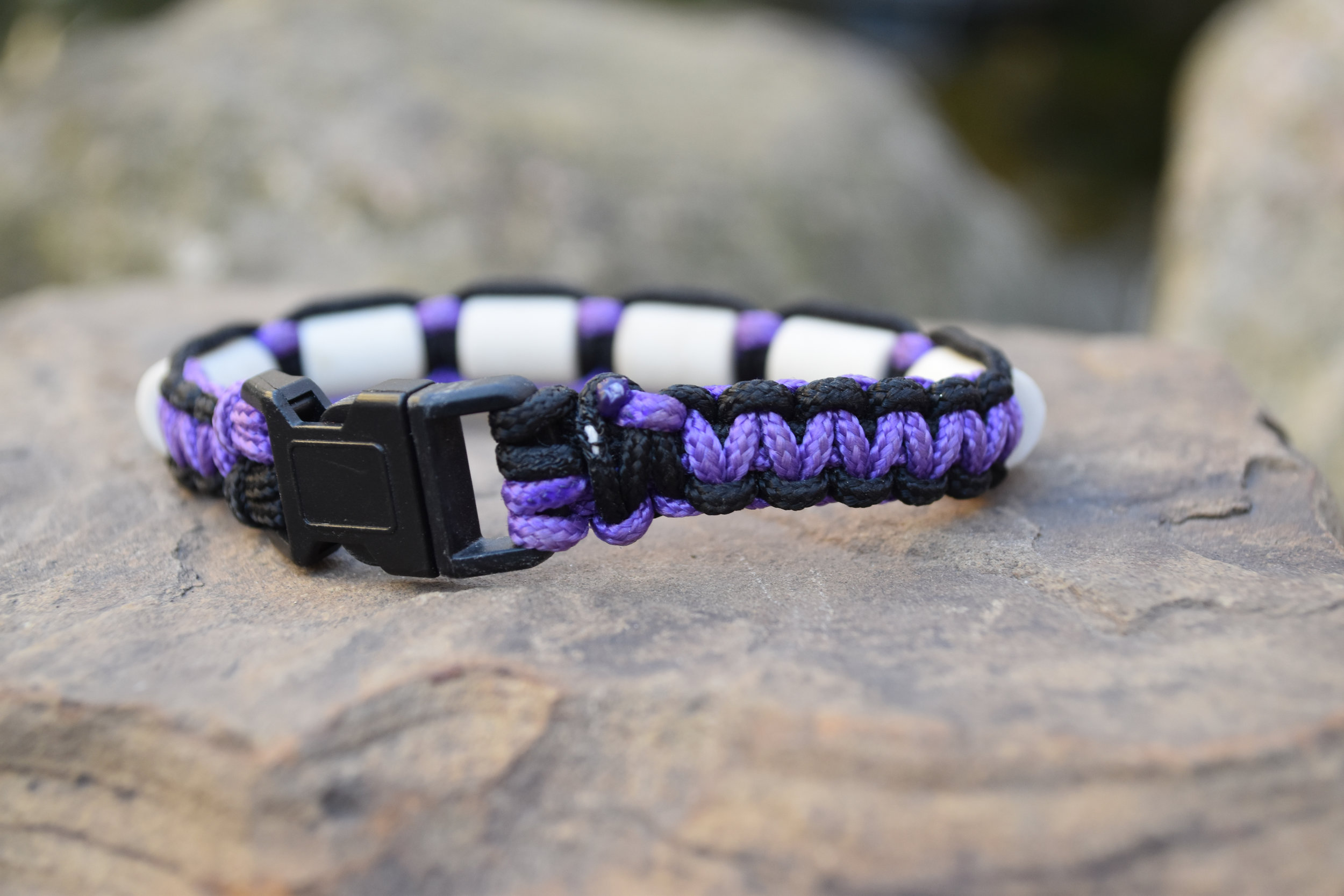 Black with Purple Paracord