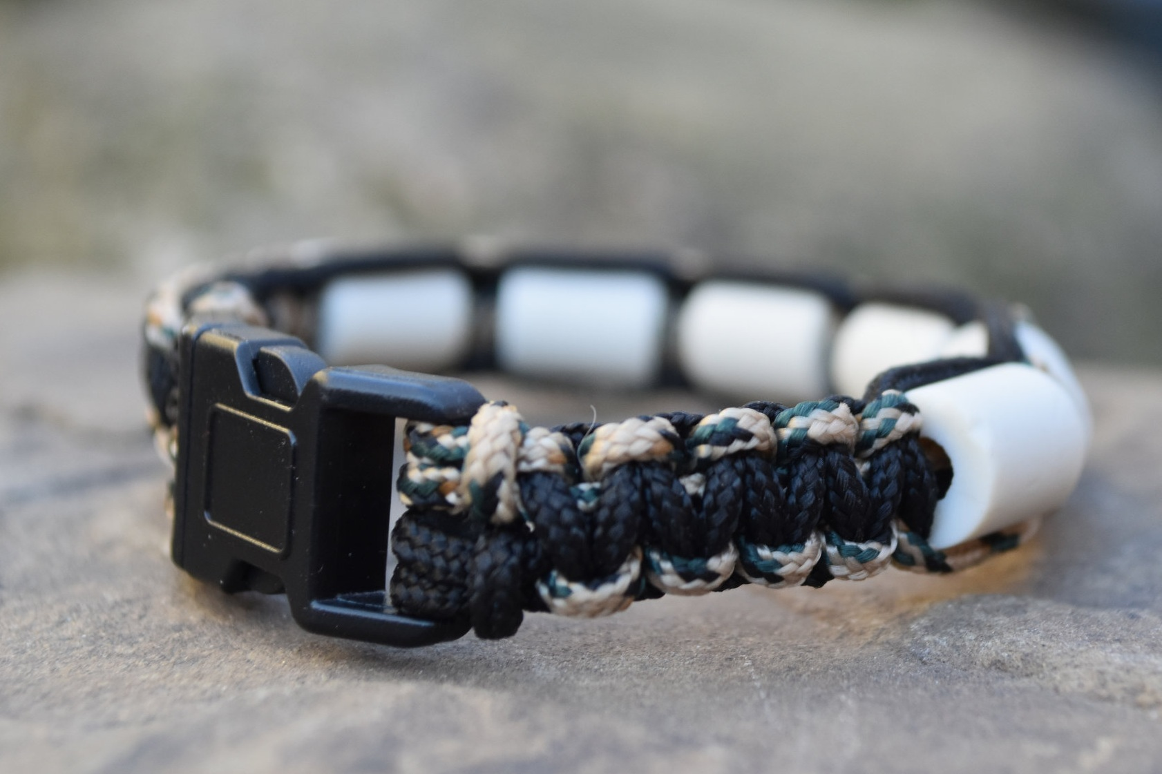 Black with Camo Paracord