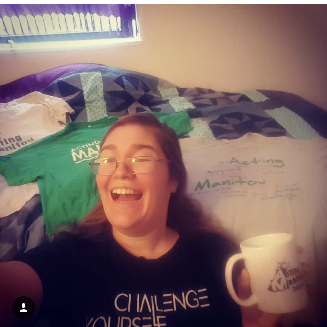 Alyssa K. reps the costume shop with her many vintage T-Shirts (and coffee and smile)!