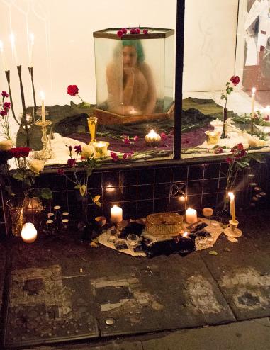Jones in her performance piece  Comfort and Civilization . Photo courtesy of Luma Jaguar.