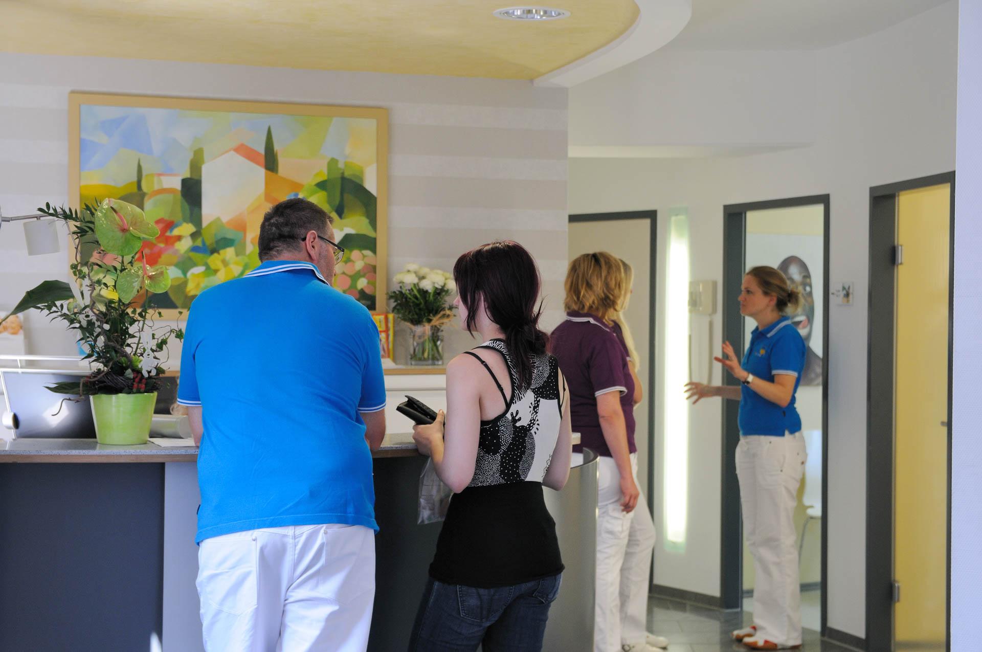 Rezeption der Zahnarztpraxis - Praxis für Zahnheilkunde in Lindau am Bodensee