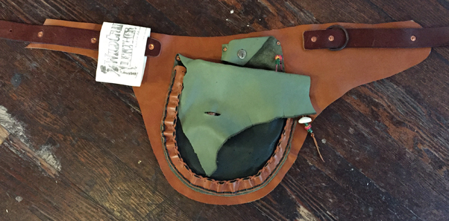 Tan and Green Festival Belt - $125 -