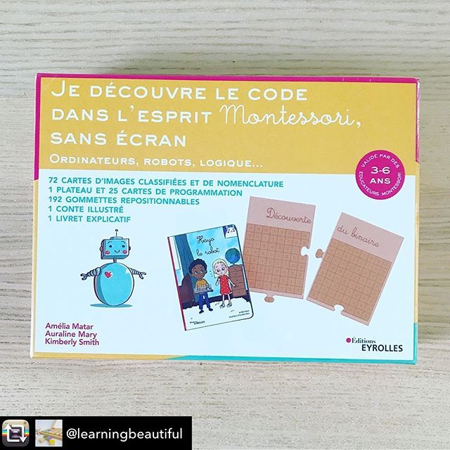 Repost from @learningbeautiful - Excited to share this new collaboration with @colori.education !! Our Montessori-inspired box of computational activities has just been published in France 🇫🇷 It contains activities for families and educators, to bring low-cost, high quality computer science education to young girls and boys. Thank you for your inspiring work @colori.education @ameliamatar @auralinemary #stemeducation #computationalthinking #computerscienceforkids