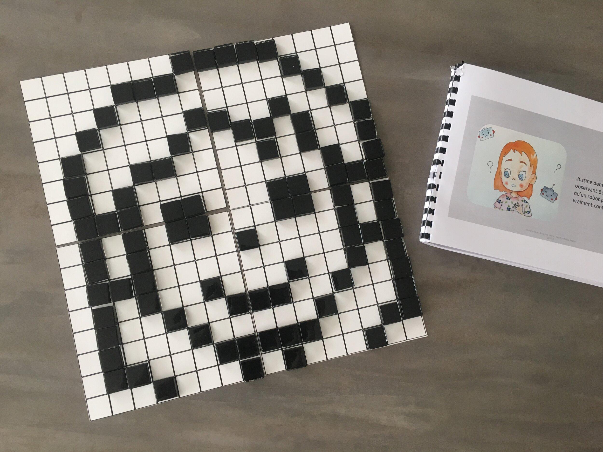 Une fois le langage binaire maîtriser, les enfants seront à même de créer leurs propres images façon pixels.