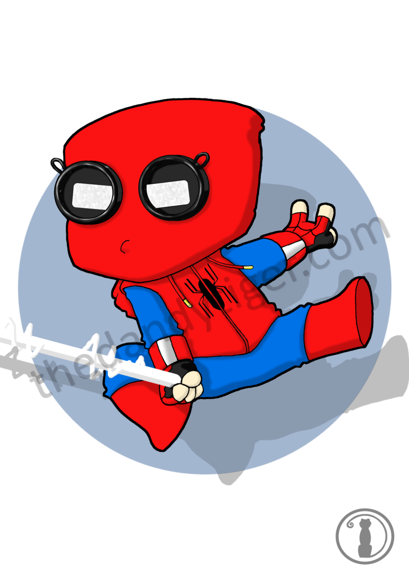 - Homecoming Spiderman Inspired Chibi Print — The Dandy Tiger
