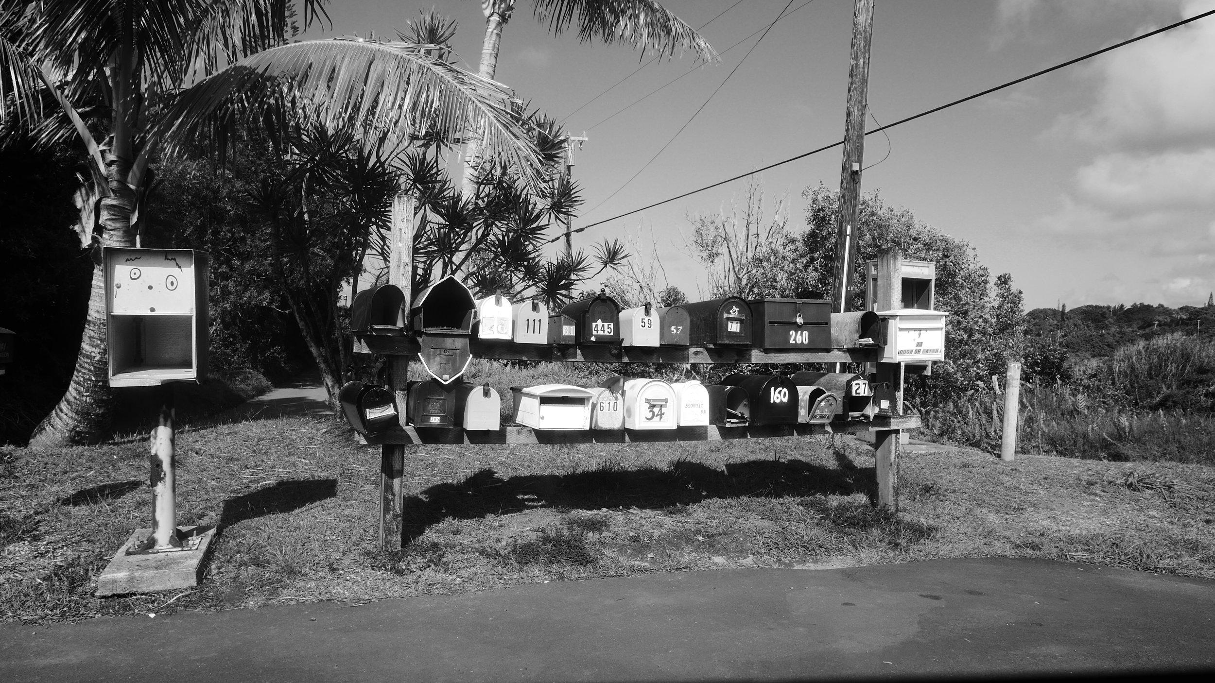 Mailboxes on Maui, Hawaii