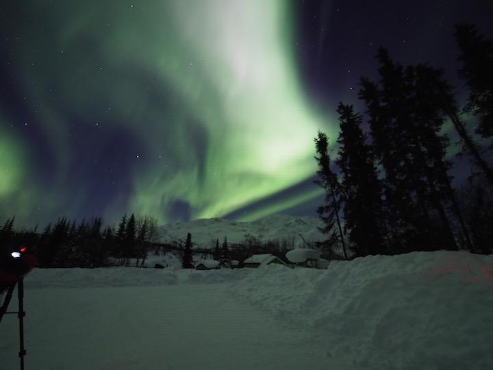 Northern Lights north of the Arctic Circle in Wiseman, Alaska