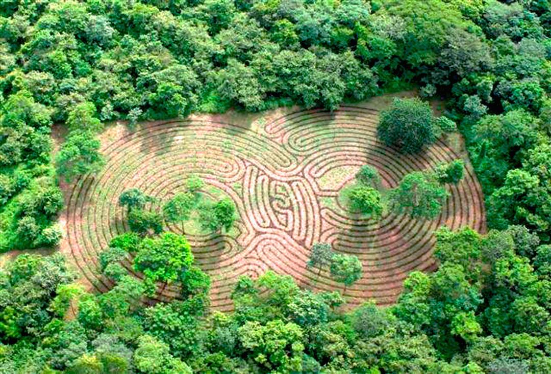 Cala Luna has the world's largest meditation labyrinth.