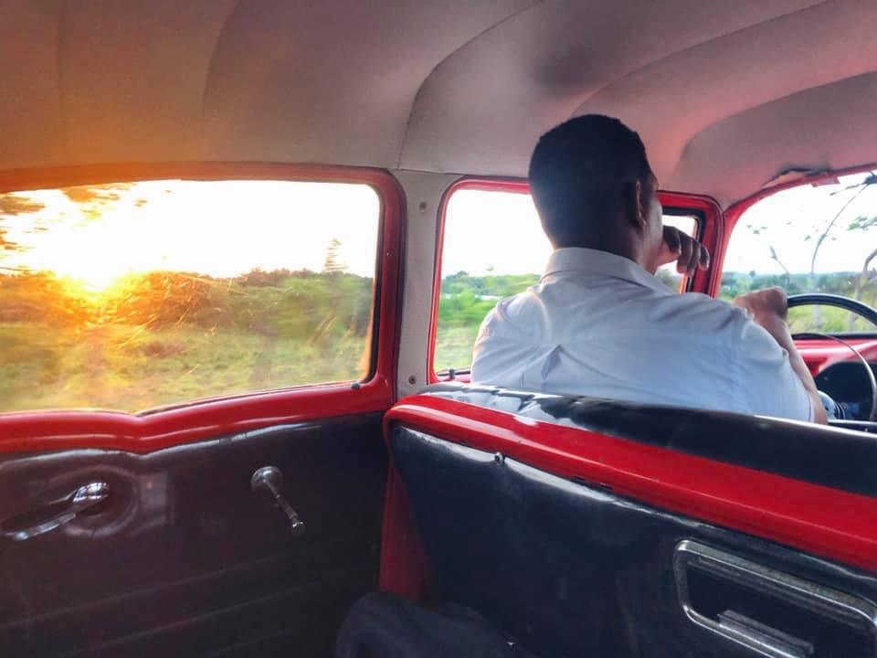 Cab driver in Cuba