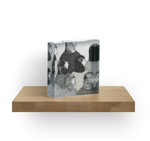 Together we're strong - acrylic block