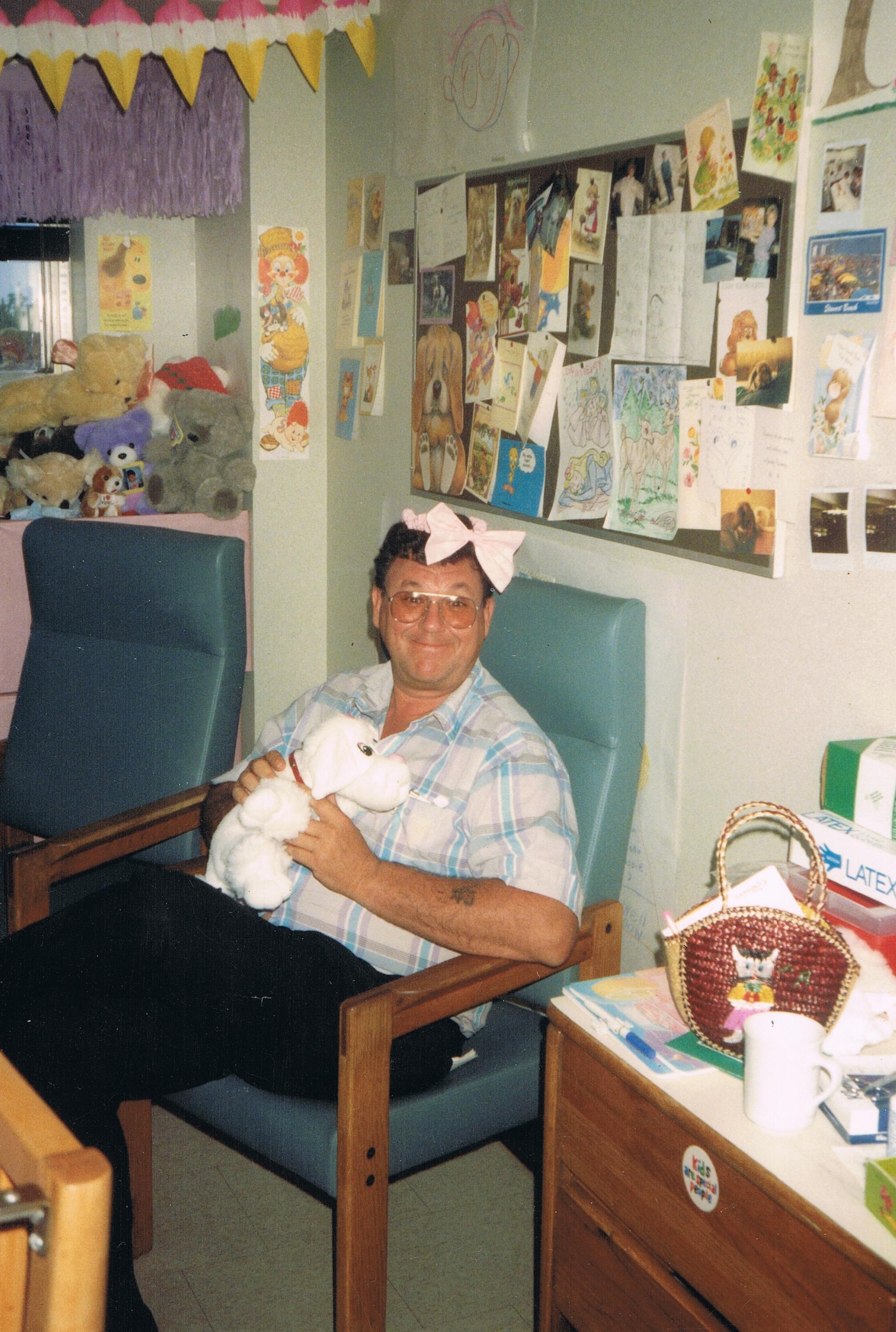 - July 1988 ~ Dad in my last hospital room before discharging