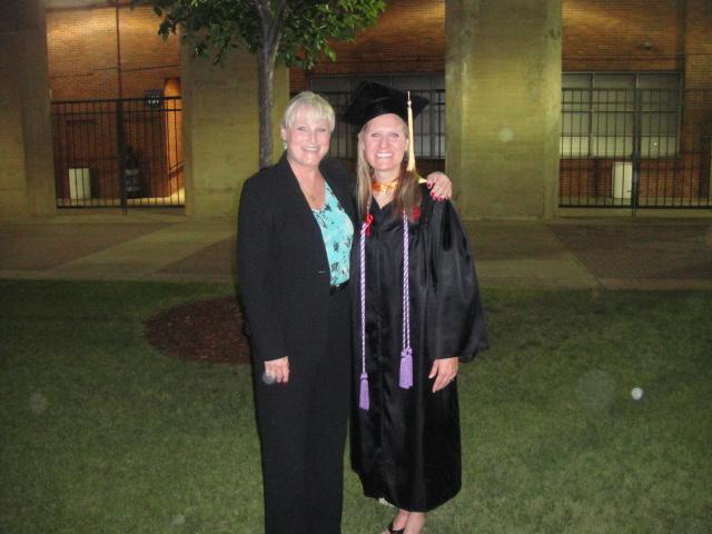 My nurse Lois and me at my nursing school graduation.