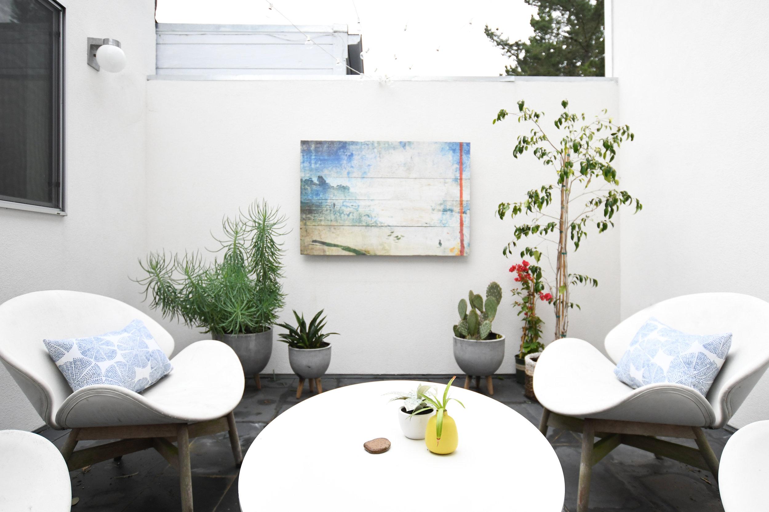 Angela Grace Design // Amber Courtyard Outdoor Patio // San Francisco and SF Bay Area Interior Designer, Decorator