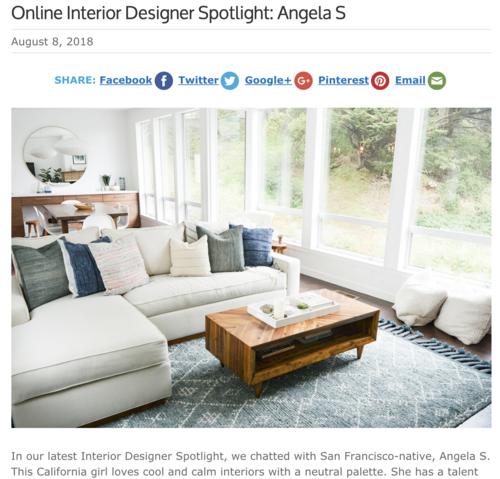 Angela Grace Design San Francisco Interior Decorating Designer Press