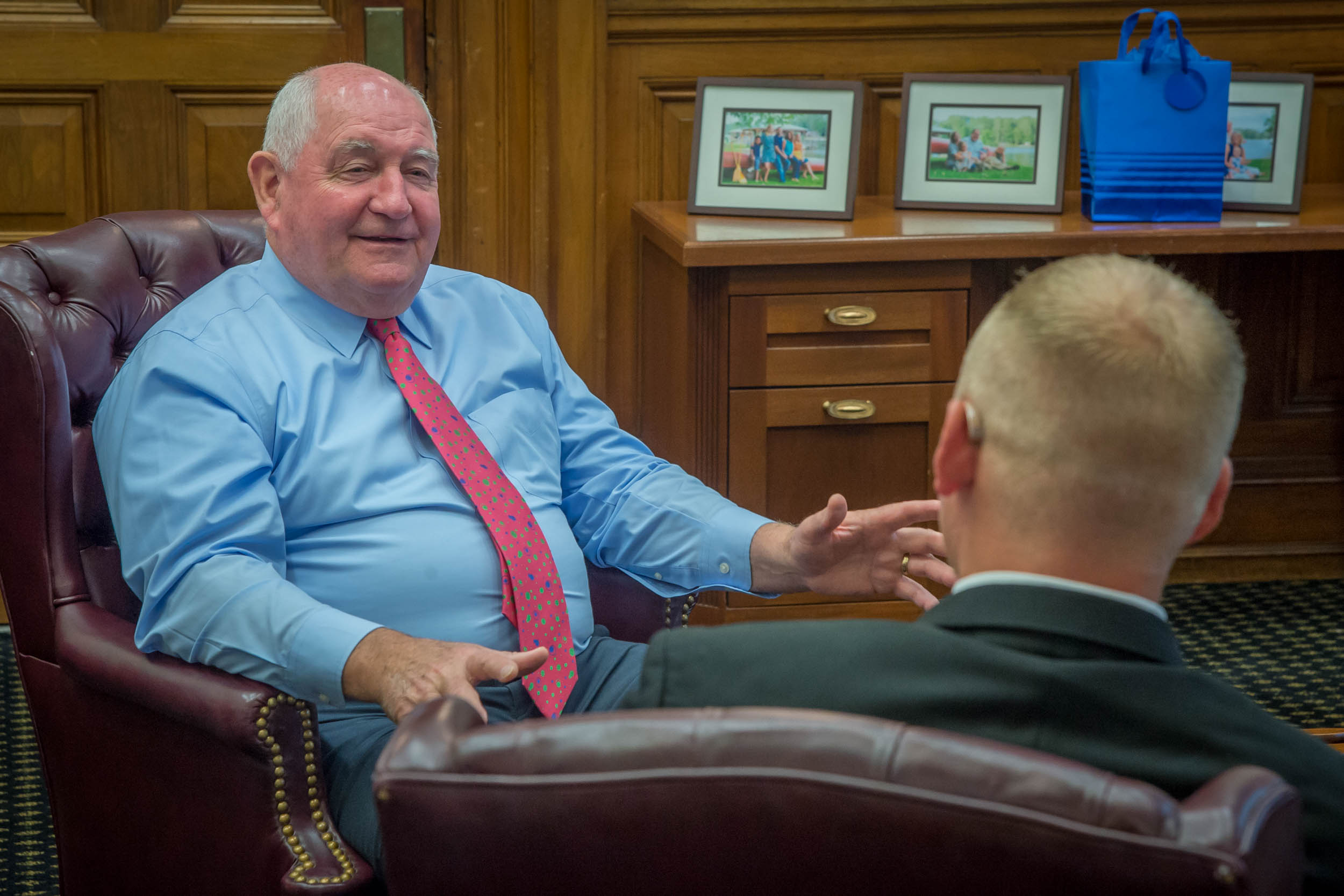"""- """"When people ask me,'what do I want out of USDA,'I say it's pretty simple —I want it to be the best."""" —Secretary Perdue"""