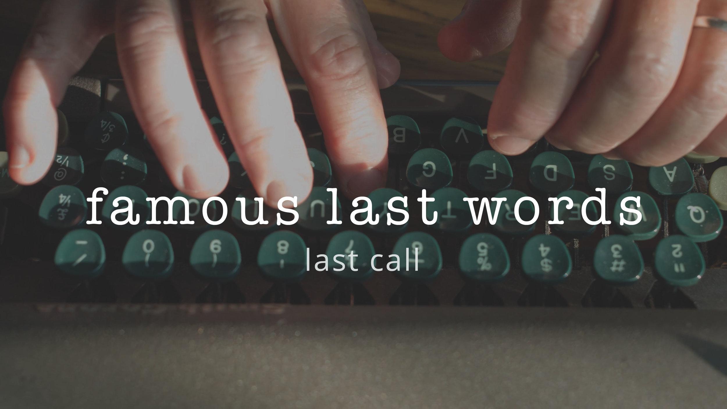 2 | Last Call