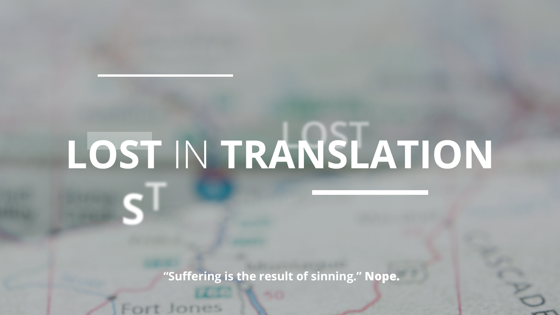 "5 | ""Suffering is the result of sinning."" NOPE."