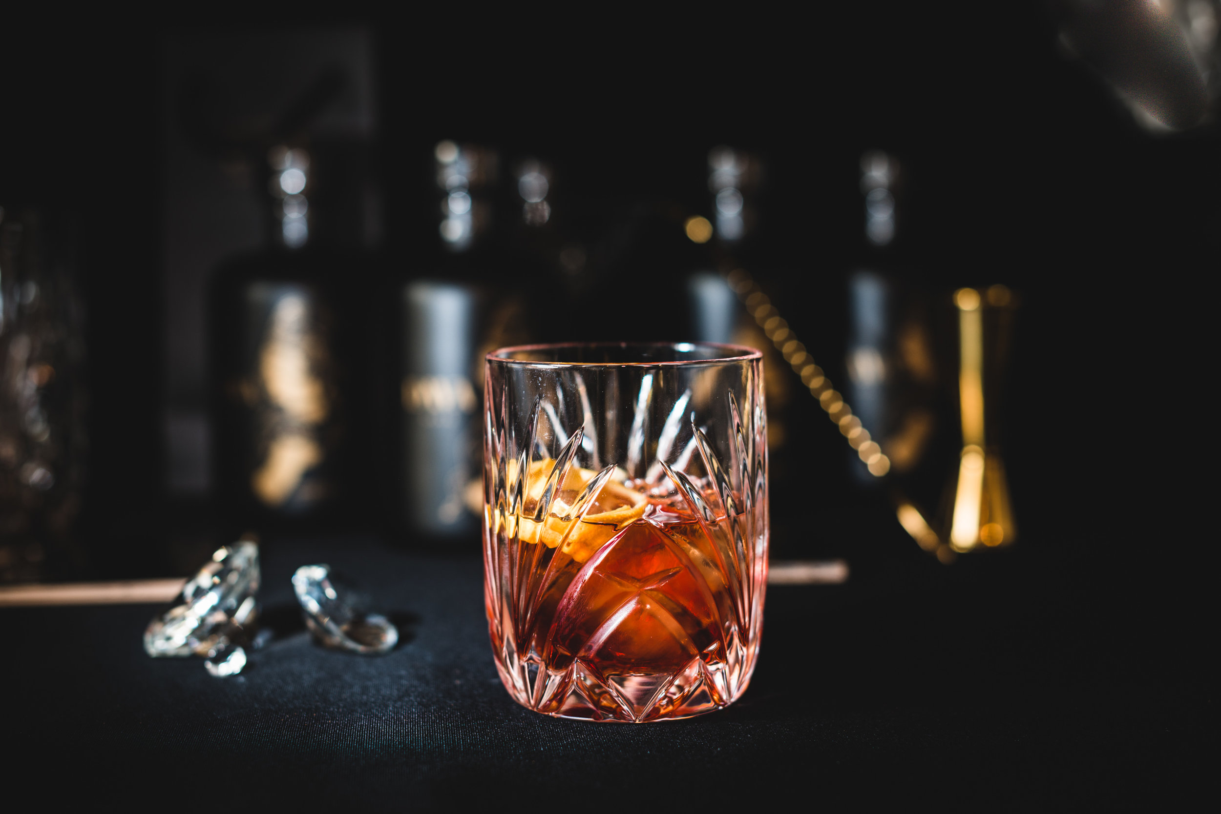 NIKITA'S NEGRONI - -DIVA DARK GIN-Vermouth-Campari-Orange peel