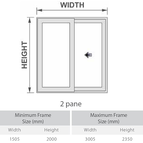 DECEUNINCK SLIDER 24 UPVC PATIO DOOR 2 PANE