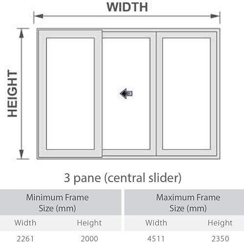 DECEUNINCK SLIDER 24 UPVC PATIO DOOR 3 PANE