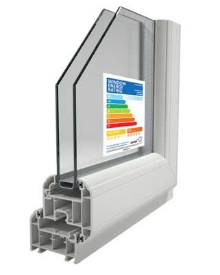 A rated energy rating - upvc window