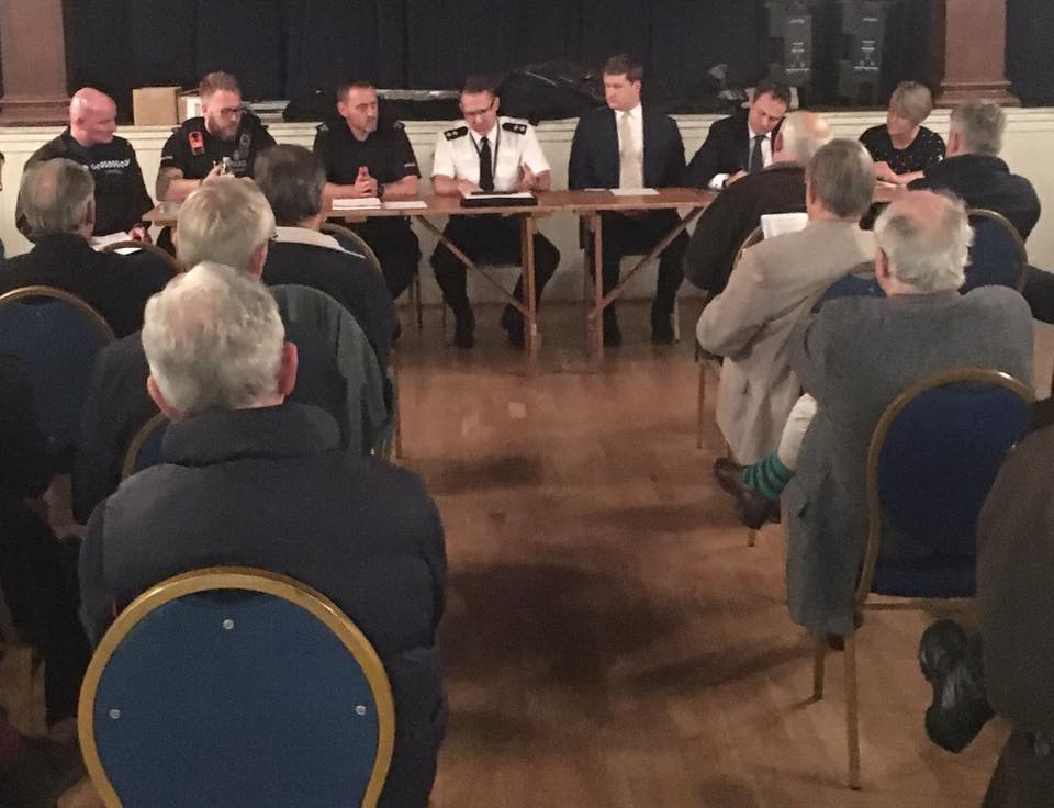 As soon as my flight landed from Ireland, I was back to Penshurst where I was pleased to join Cllr Sue Coleman, Matthew Scott - our excellent Police and Crime Commissioner, and representatives from Kent Police at a public meeting organised by Sue about rural policing tonight. We discussed on lots of issues including the role of PCSOs, issues with rural crime and preventing crime too.  It was excellent to see so many residents attend to hear how our police force is working so effectively to keep our community safe.
