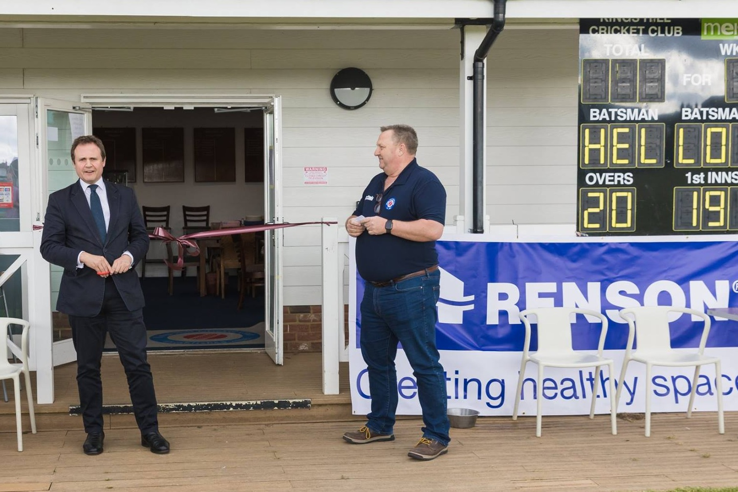 I was delighted to be asked to open  Kings Hill Cricket Club 's new Pavilion. It looks wonderful, and all thanks to the hard-work and dedication of the volunteers who made it possible. It's a fantastic community achievement and I was really pleased to be there.