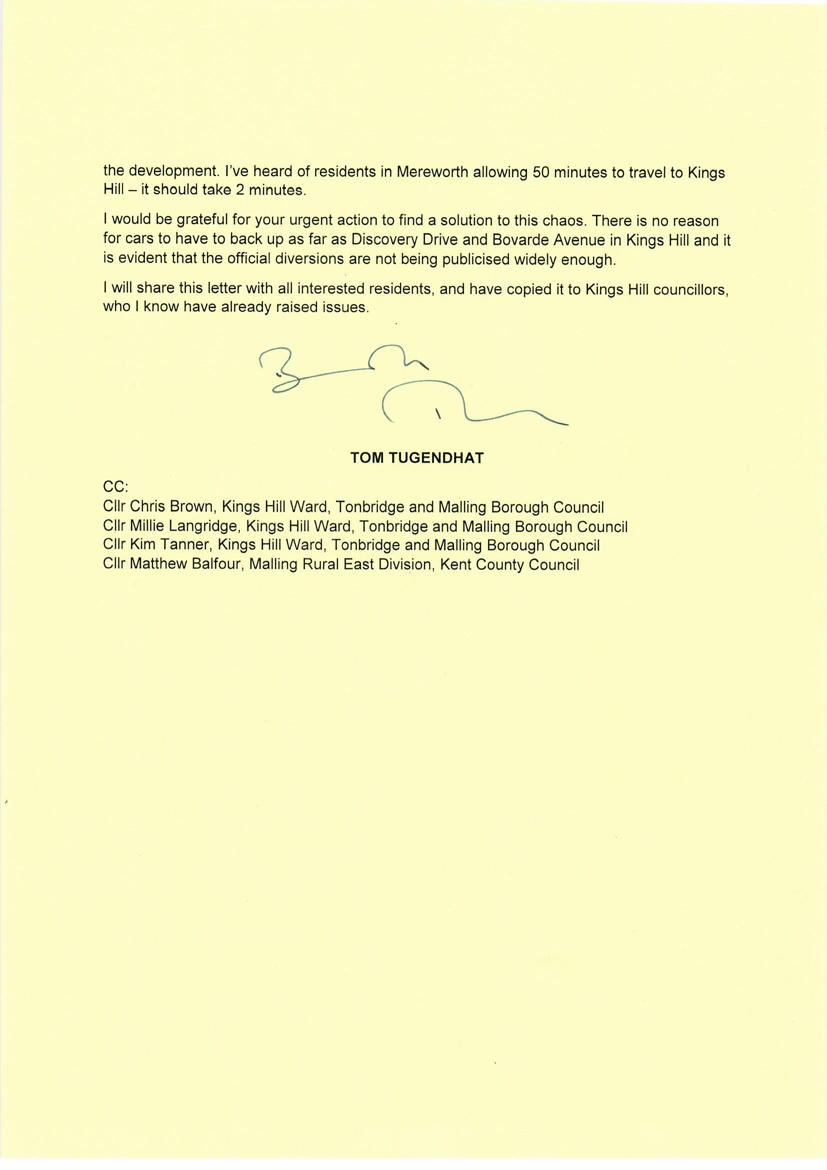 20190731 - Tom Tugendhat to Mike Whiting, A228 closure0002.jpg