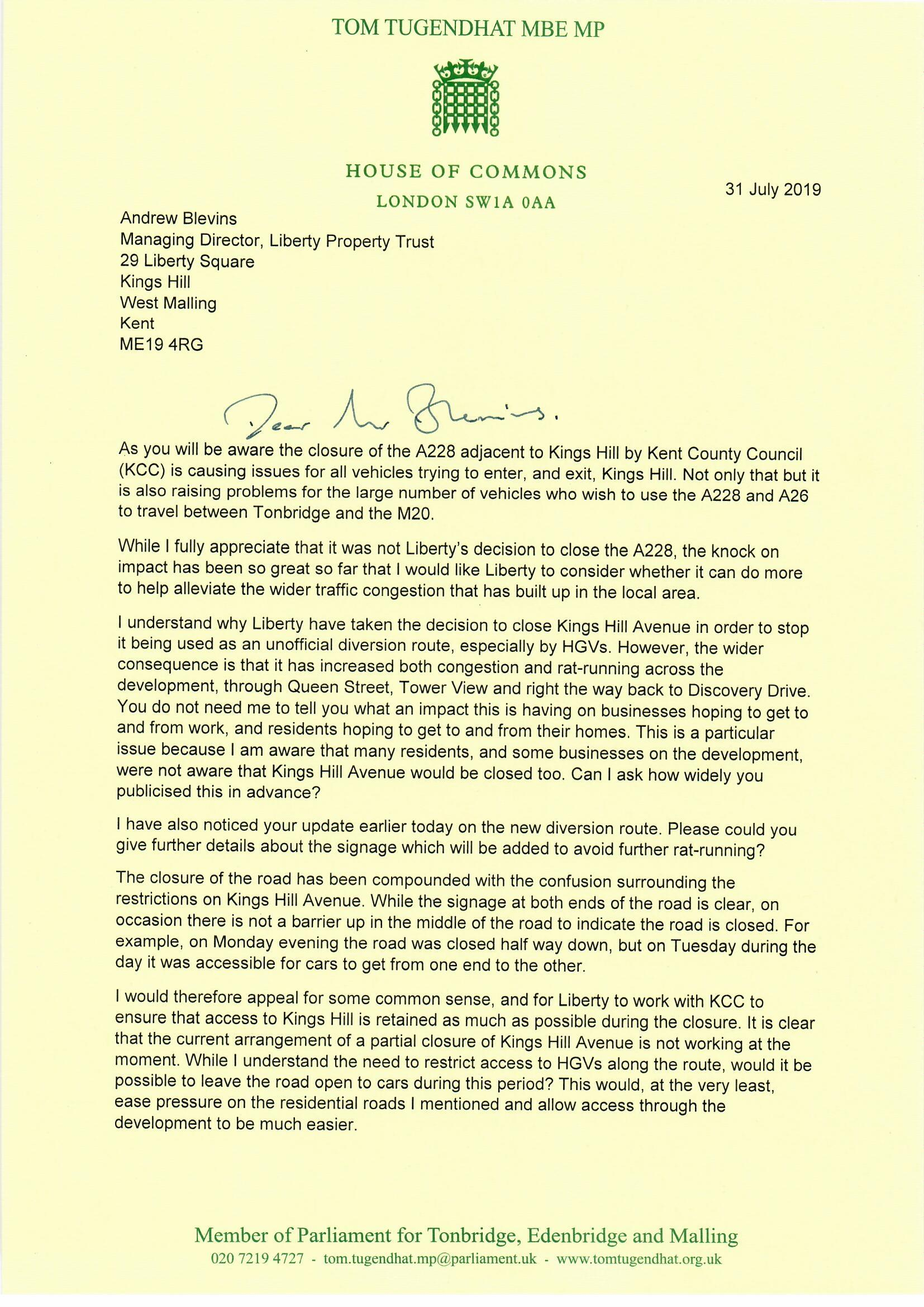 20190731 - Tom Tugendhat to Liberty Property Trust, A228 closure0001.jpg