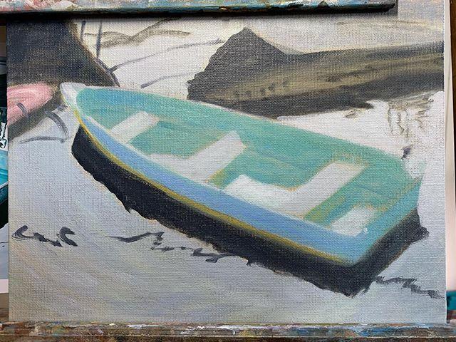 Day 2  #wip #painting #oilpainting #art #artistsoninstagram #provincetown #artsanity