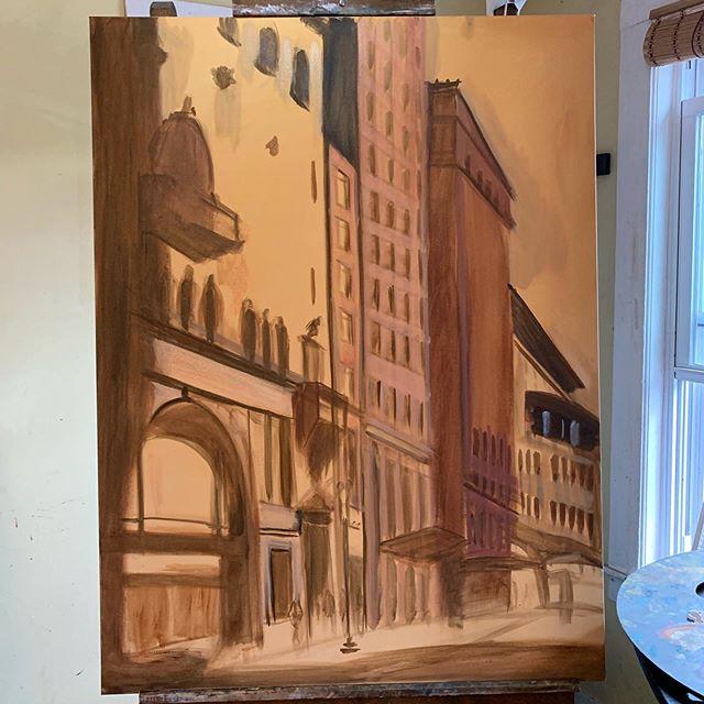 Controlling the impulse to detail.  #wip #learn #paint #lifelonglearning #oilpainting #art #paintpaintpaint #representationalart #contemporaryrealism #boston #instartist