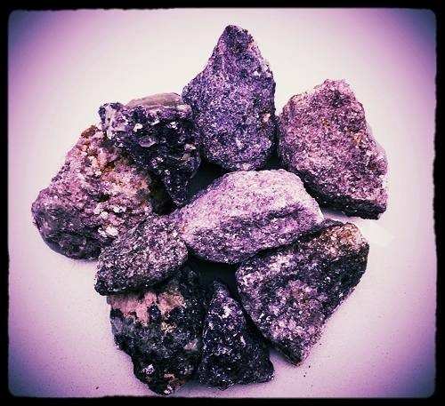 Raw Lepidolite. Like a Gremlin, don't get it wet.