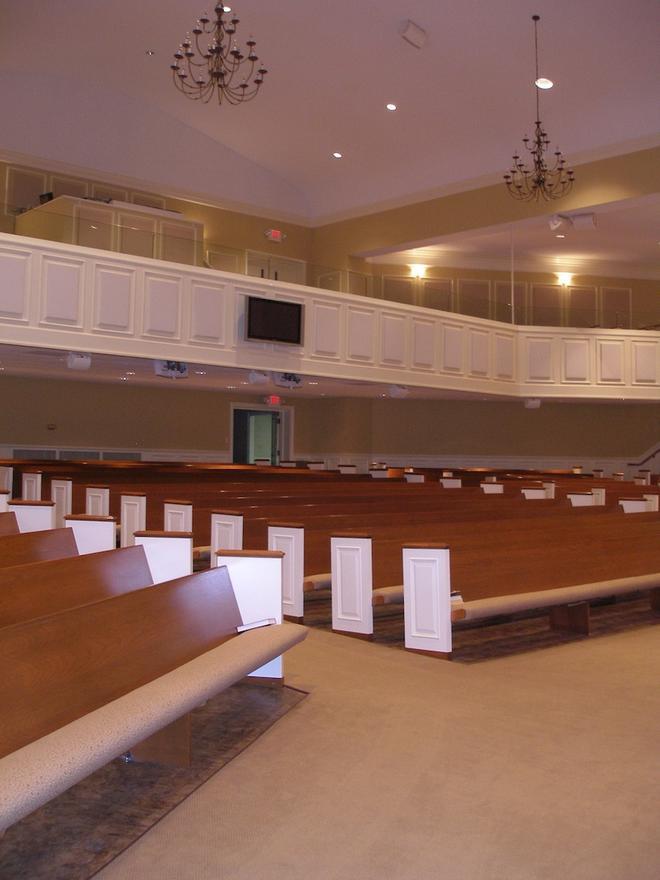 MULTI-LEVEL SEATING AT THE FOUNTAIN INN FRIST BAPTIST CHURCH PERFORMANCE VENUE