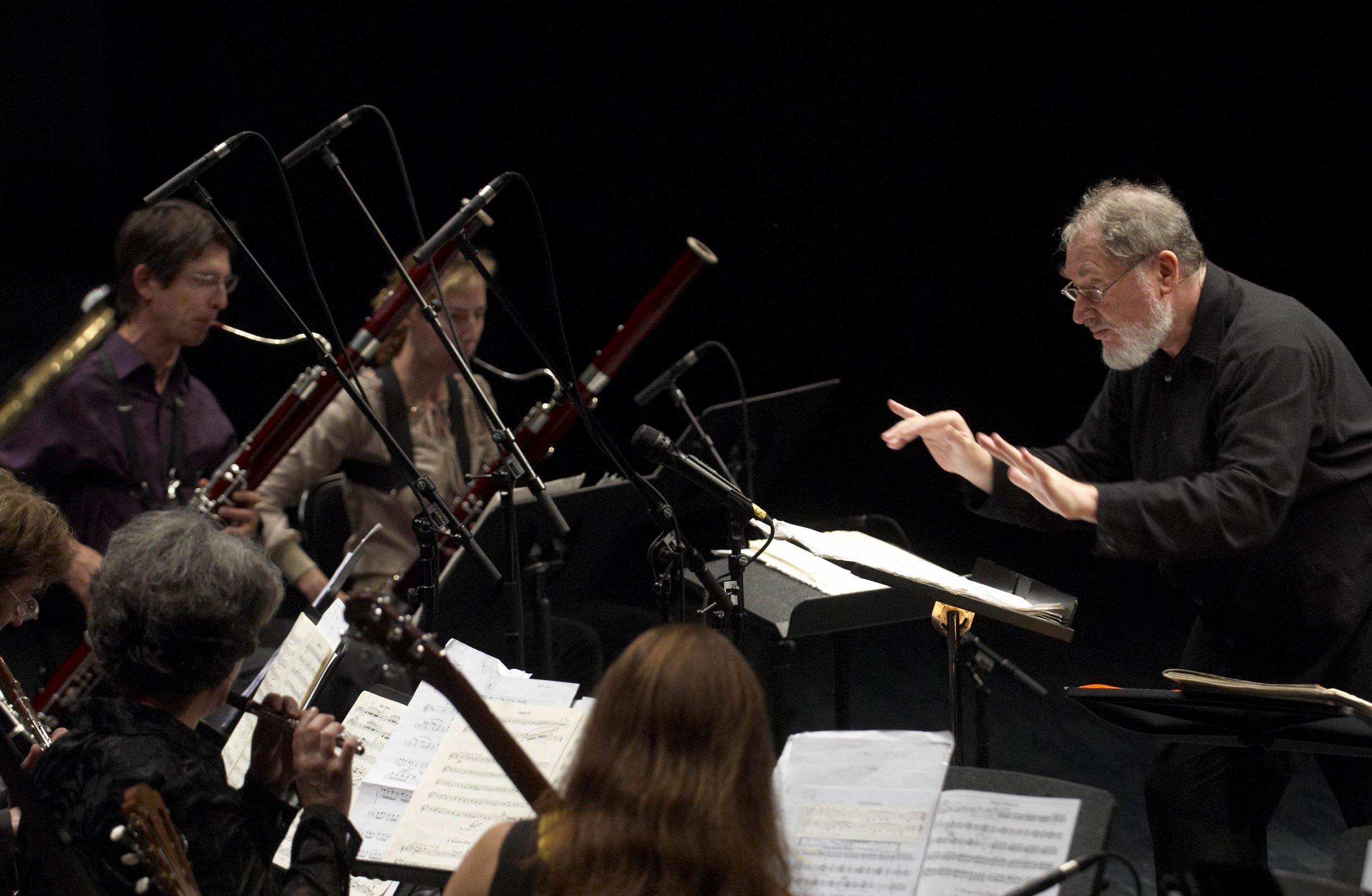 """3. Going Against Concert Hall Etiquette - """"Gruber wrote Frankenstein!! in 1974 for a full symphony orchestra. A year later, he created a chamber version for 13 players. For this performance, there will be 15 people on stage: 13 players, a conductor, and a chansonnier. It's the Winnipeg premiere of the piece, and it's relatively unusual at the Good Will. It skews the lines between classical and cabaret. There are toy instruments played. One of the descriptors for the chansonnier is, 'as singing in the bath.' It's not meant to be stuffy or typically classical, as far as convention goes. It goes against concert hall etiquette and performance practice."""""""